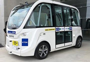 ハンドルのない自立走行小型バス