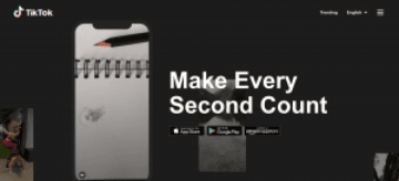 Screenshot of TikTok's official website. (Image credit: TechNode)