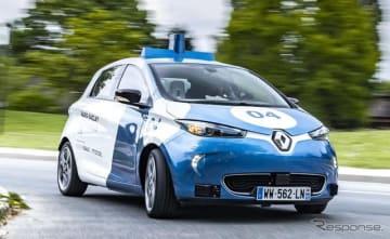 ルノー・ゾエ がベースの自動運転EV(参考画像)