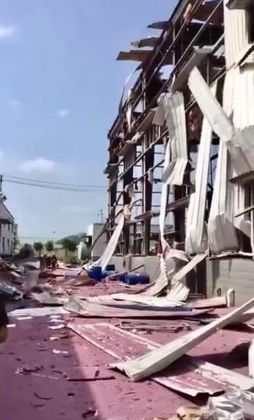 化学工場で爆発、4人死亡 広西チワン族自治区