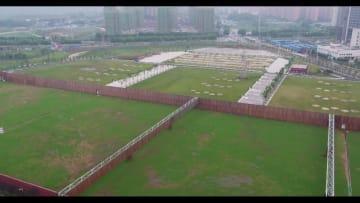 世界軍人運動会、間もなく開幕 軍人5種目競技会場を鳥瞰
