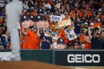アストロズファンがヤンキースファンに暴行した【写真:AP】