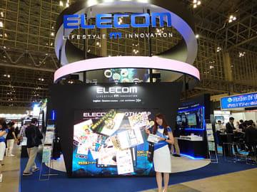 2年連続の出展となるエレコム。グループ会社のディー・クルー・テクノロジーズ(DCT)のセンサ技術をアピール