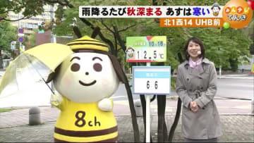 【北海道の天気 10/16(水)】あすは寒さ厳しくなりそう 防寒対策を