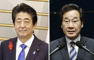 安倍晋三首相、韓国の李洛淵首相