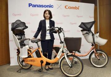 パナソニックが12月に発売する電動アシスト自転車の新製品=16日、東京都港区