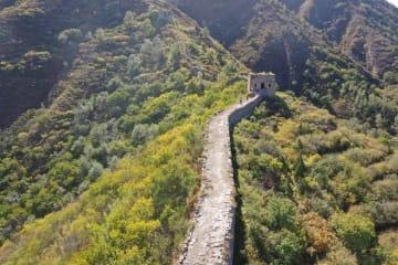 秋景色の喜峰口長城 河北省