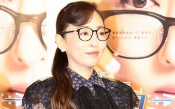 連続ドラマ「ミス・ジコチョー~天才・天ノ教授の調査ファイル~」の試写会後の会見に登場した松雪泰子さん