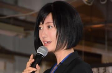 連続ドラマ「死役所」の会見に出席した松本まりかさん