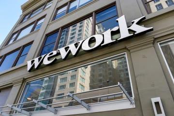 米ウィーワークが運営するオフィス=9月30日、サンフランシスコ(ロイター=共同)