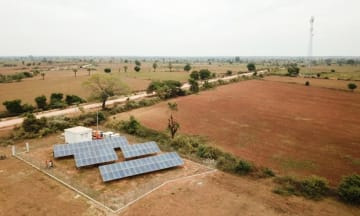 A solar power facility installed by Yoma Micro Power in the western region of Sagaing, Myanmar. (Photo courtesy of Yoma Strategic Holdings)