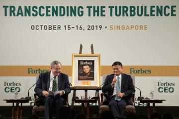 ジャック・マー氏、フォーブス国際CEO会議に出席 シンガポール