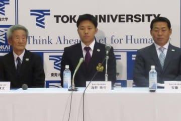 ソフトバンクが2位指名した東海大・海野陸司【写真:安藤かなみ】
