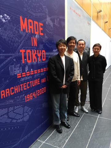 10日のプレス公開に立ち会った、左からアトリエ・ワンの貝島氏、塚本氏、伊藤暁氏、JSの神谷氏
