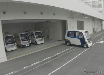 パナソニックが本社エリアで開始した自動運転ライドシェアサービスの様子