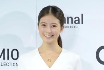 ジュエリーブランド「Canal Produced by 4℃」のクリスマス限定ジュエリー「MIO SELECTION」の発表会に出席した今田美桜さん