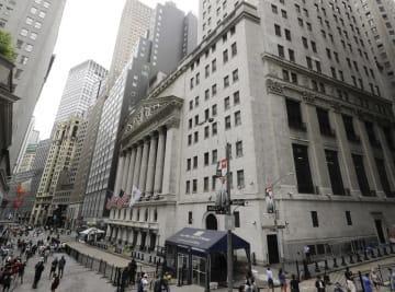 ニューヨークのウォール街(AP=共同)