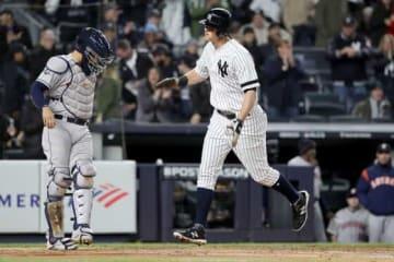 先頭打者弾を放ったヤンキースのDJ・ルメイヒュー【写真:Getty Images】