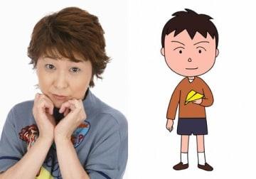 10月27日放送のテレビアニメ「ちびまる子ちゃん」でゲスト声優を務める田中真弓さん(左)と、アニメで演じる透くん (C)さくらプロダクション/日本アニメーション