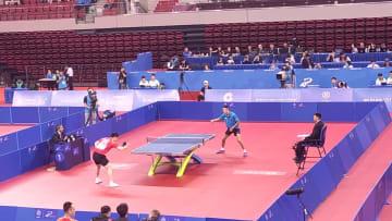 中国、卓球男子団体で初日快勝 準決勝へ 世界軍人運動会