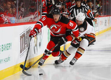 Taylor Hall Scores Twice in Devils' 2-1 vs Ducks