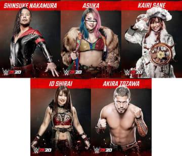 海外プロレスゲーム最新作『WWE 2K20』発売! 中邑真輔やアスカ&カイリなど日本人選手も参戦