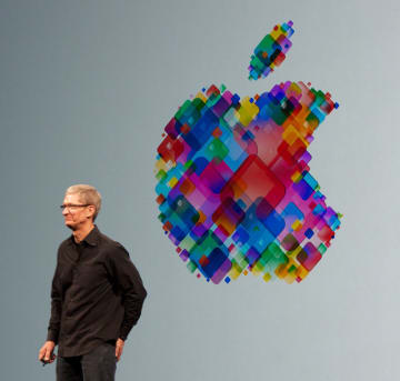 Tim Cook gives a presentation at the 2012 World Wide Developers' Conference. (Image credit: Mike Deerkoski / Wikipedia)