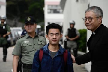Chan Tong-kai is released from prison on October 23. Photo: Stand News.